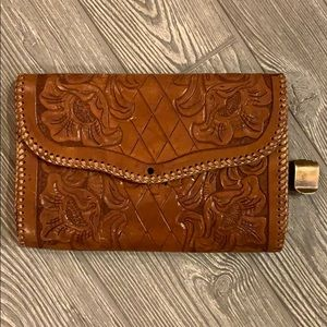 Vintage 70's Embossed Leather Clutch